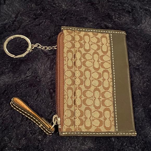 Coach key chain case